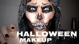 Totenkopf schminken Halloween Makeup Tutorial auf Deutsch
