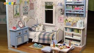 DIY Miniature Dollhouse kit   Sunshine Overflowing ミニチュアドールハウスキット作り