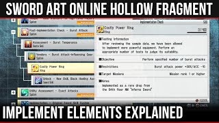 WHAT ARE IMPLEMENTS? | Best Place To Start & Tips -【 Sword Art Online Re: Hollow Fragment 】