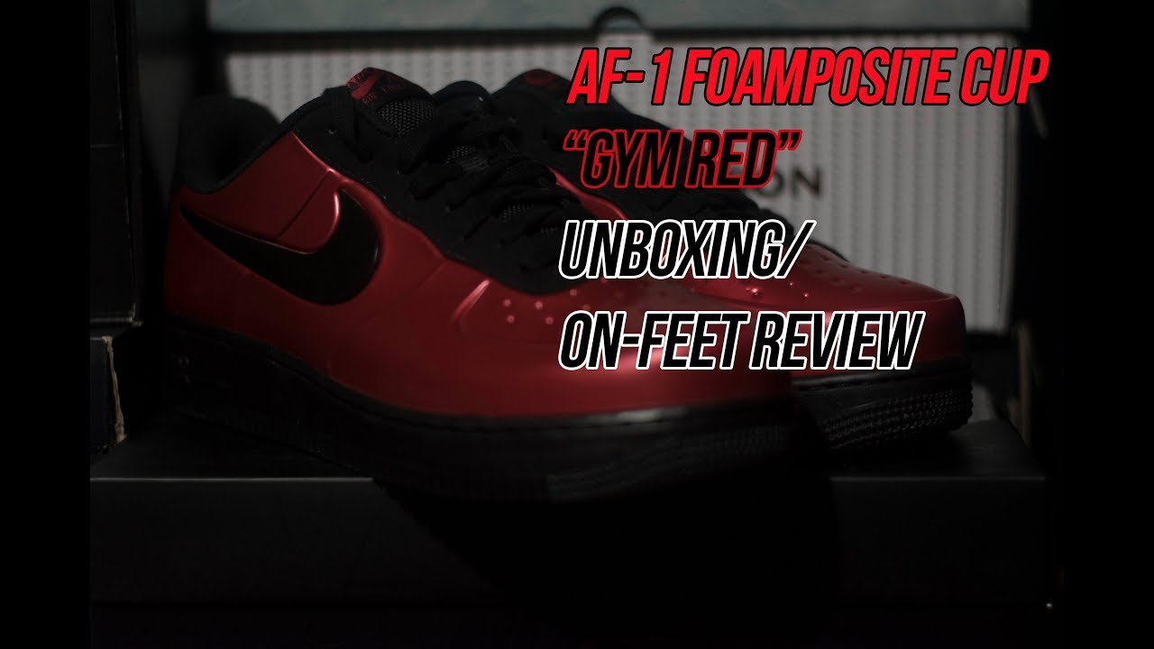 8726f8277cd Air Force 1 Foamposite Cup  Gym Red