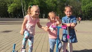 ВЛОГ Как мы провели день с детьми Алина и Юля играют в парке с Мими Лисса VLOG