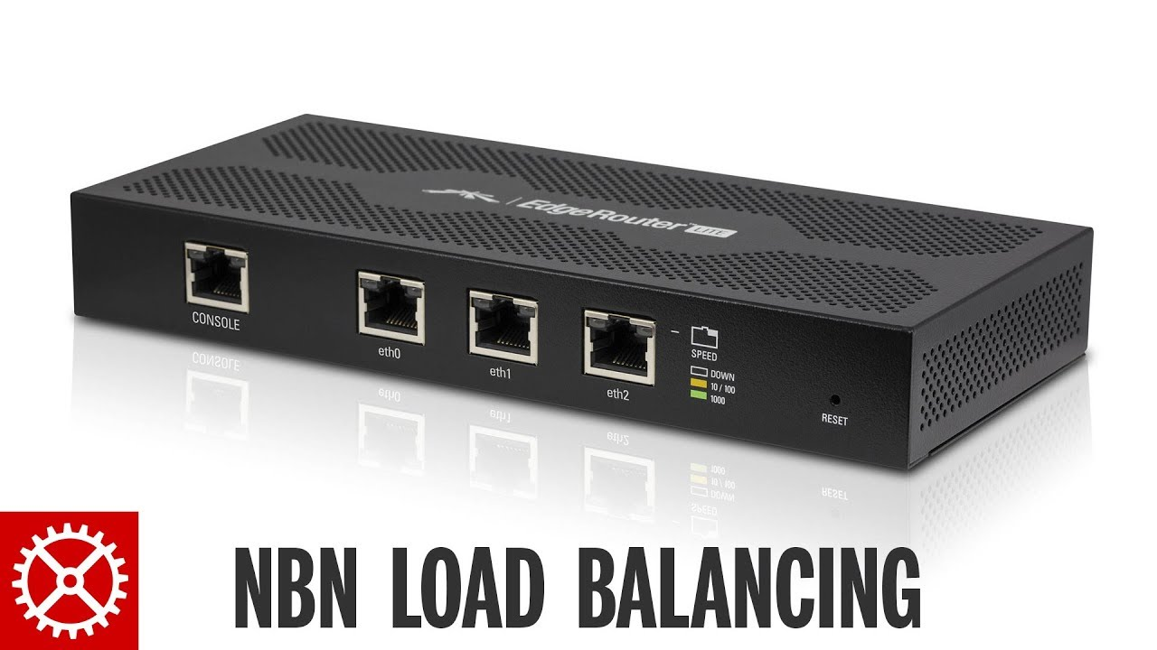 Combining 2 Fibre To The Node Connections using Load Balancing Ubiquiti  EdgeRouter Lite NBN Internet