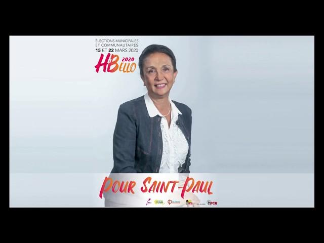 Pour Saint-Paul - Élections municipales 2020 - Huguette Bello