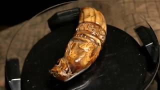 Two Different Carved Tooth Tiger Amulets LP Nok