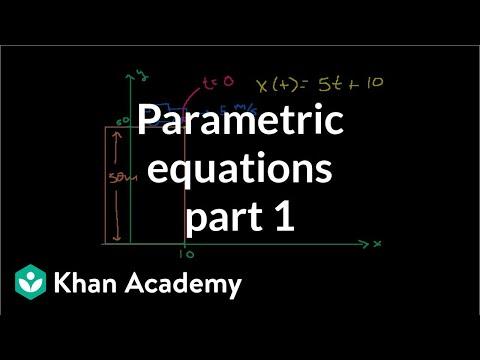 Parametric equations 1 | Parametric equations and polar coordinates | Precalculus | Khan Academy