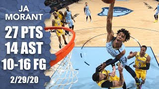 Ja Morant GOES OFF vs. Lakers and nearly puts AD on a poster | 2019-20 NBA Highlights
