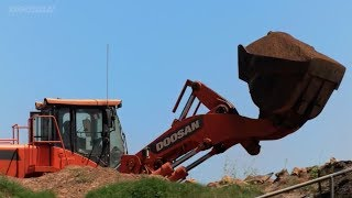 Video still for Doosan Real Work Stories: Stuart Perry with Wheel Loaders and Articulated Dump Trucks