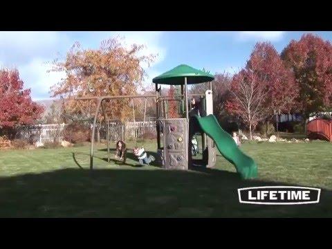 Lifetime Adventure Tower Swing Set 90440 Youtube
