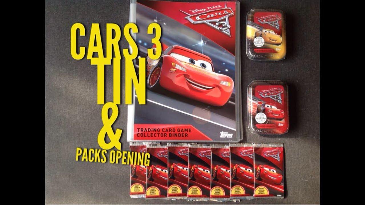 CARS 3 TOPPS TRADING CARDS STARTER PACK EDITION FR