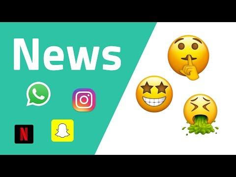News zu WhatsApp, Emojis 2017, Instagram, Snapchat, Netflix