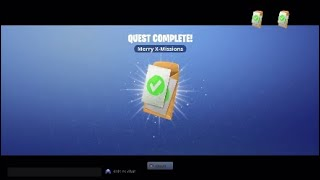 """Merry X-Missions"" Complete 2 Mission Alerts - The 14 Days of Fortnite PVE Quest Save The World"