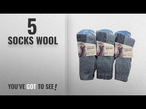 Top 10 Socks Wool [2018]: 3 Pairs Mens Fresh Feel Merino Wool Soft Warm Socks UK 6-11