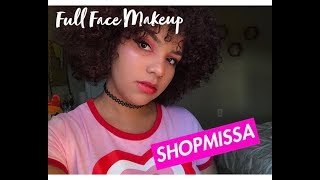 SHOPMISSA REVIEW: Full Face Using $1 Makeup