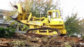 Komatsu D75S Track Loader Moving Dirt