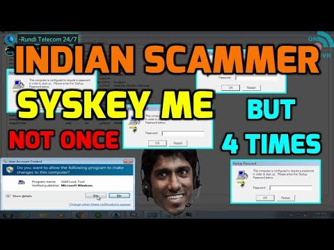 Microsoft Scammer SYSKEY Me 4 Times Then Goes Mad