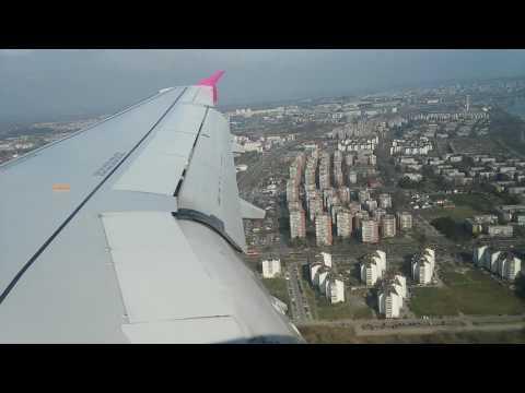 "Wizz Air Airbus 320 landing on ""Nikola Tesla"" airport, Belgrade"