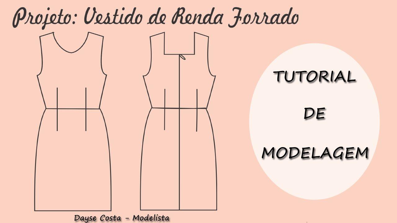 Moldes de vestidos de renda gratis para imprimir