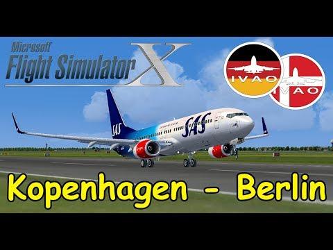 FSX   IVAO   Kopenhagen - Berlin   SAS Boeing 737   Liongamer1 [Streamaufzeichnung]