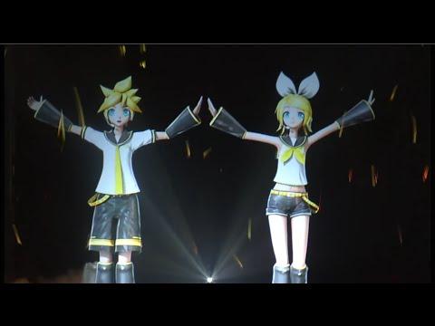 【鏡音リン・レン】Rin & Len「Tsumugi Uta」Shanghai 2015 Live Concert HD【Miku EXPO】