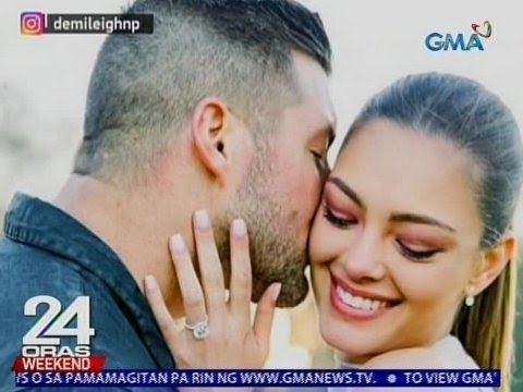 24 Oras: Miss Universe 2017 Demi Leigh Nel-Peters at Football Quarterback Tim Tebow, engaged na
