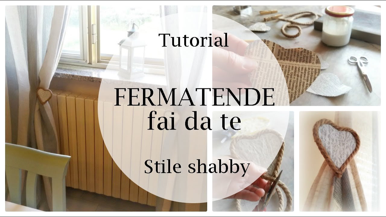 Fermatende fai da te in stile shabby chic tutorial per for Tende da cucina stile country