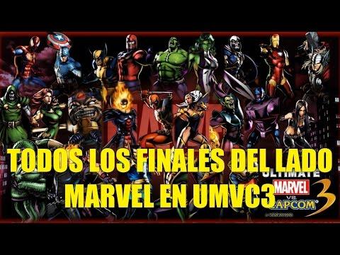 Todos los Finales del Lado Marvel en Ultimate Marvel vs Capcom 3 en Español