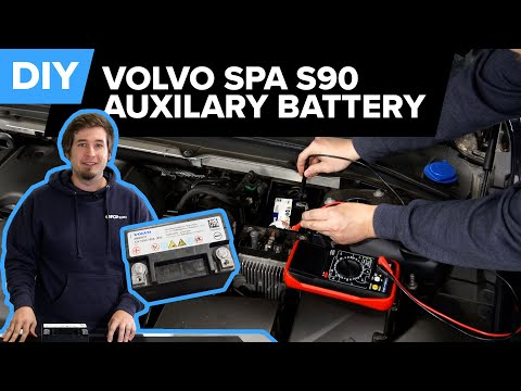 Volvo Auxiliary Battery Diagnosis & Replacement DIY (Volvo SPA S90, S80, V60, XC90 & More)