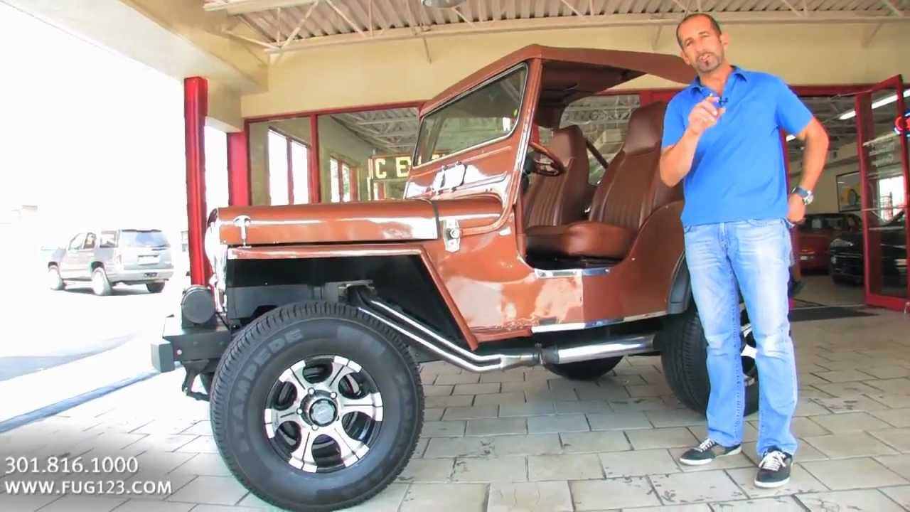 1951 Willys Jeep 4X4 for sale with test drive, driving sounds, and