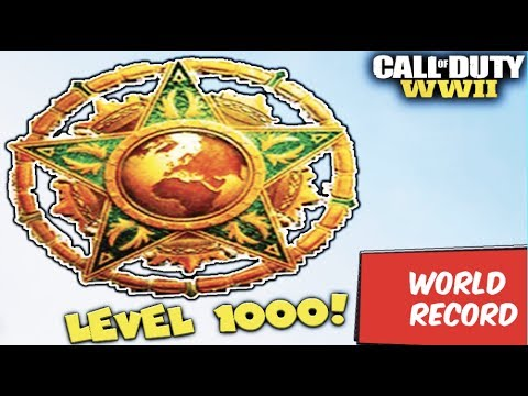 i\'m FINALLY LEVEL 1000!... (WORLD RECORD TIME PLAYED!) - COD WW2 (Crazy Ending & Reaction!)