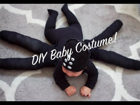 How To DIY Last Minute Baby Spider Costume & How To DIY Last Minute Baby Spider Costume - YouTube