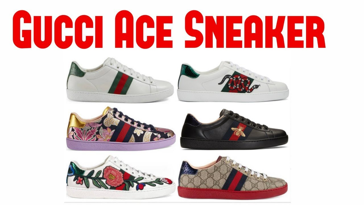 739ca5c6aba Gucci Ace Sneaker 2018   GUCCI Latest Women Sneaker Collection - YouTube