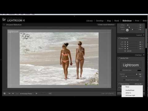 How to Watermark Your Photos In Lightroom 4