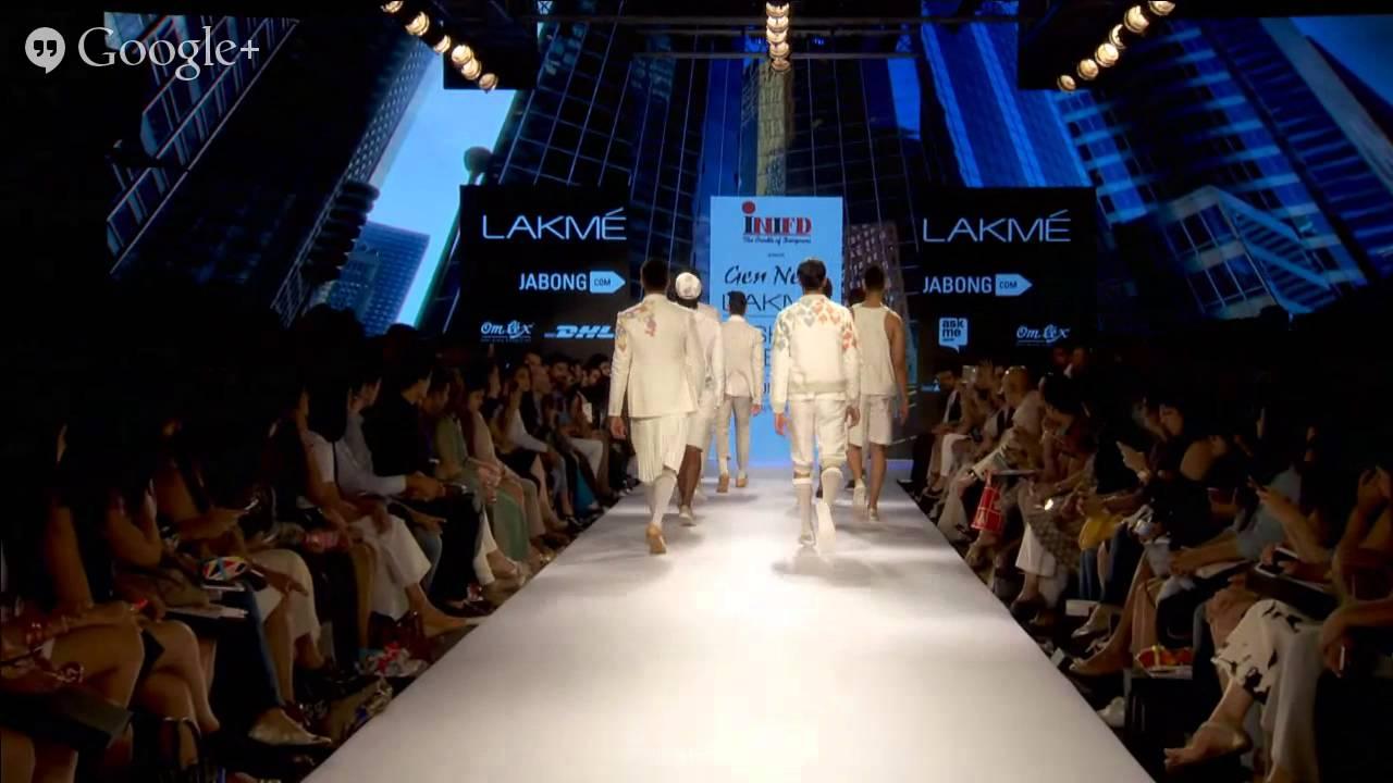 Inifd Presents Gen Next Show Lakme Fashion Week Summer Resort 2015 Youtube