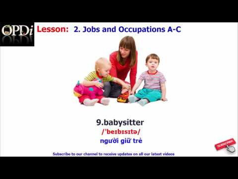 Oxford dictionary - 2. Jobs and Occupations A-C - learn English vocabulary with picture
