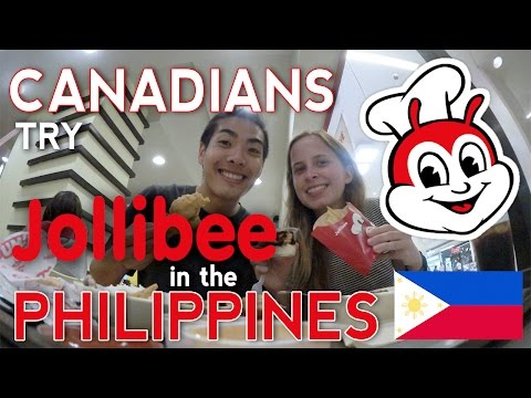 Canadians try JOLLIBEE in the PHILIPPINES