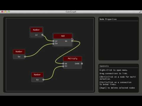 CalcGraph :: GTF Example for node Graphs with ImGui