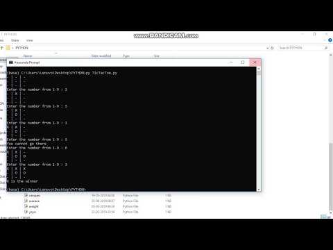 Python tutorial for tictactoe game thumbnail