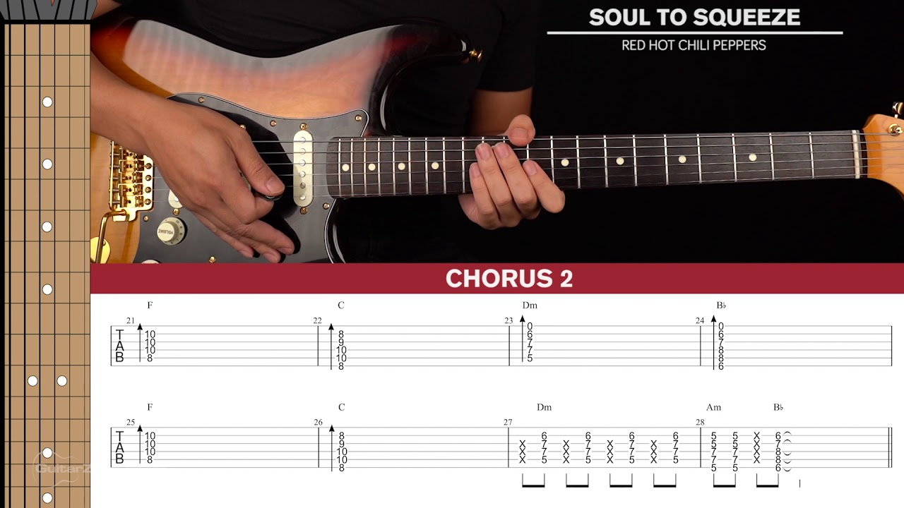 Soul To Squeeze Guitar Cover Red Hot Chili Peppers 🎸 Tabs + Chords