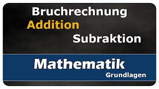 Let's Learn Addition und Subtraktion von Brüchen