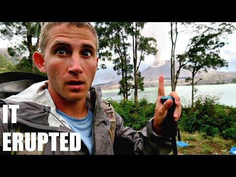 Escaped Mount Rinjani Eruption