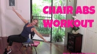 Abs Exercises Using a Chair (standing abs, core workout)
