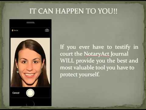 NOTARYACT ELECTRONIC NOTARY JOURNAL
