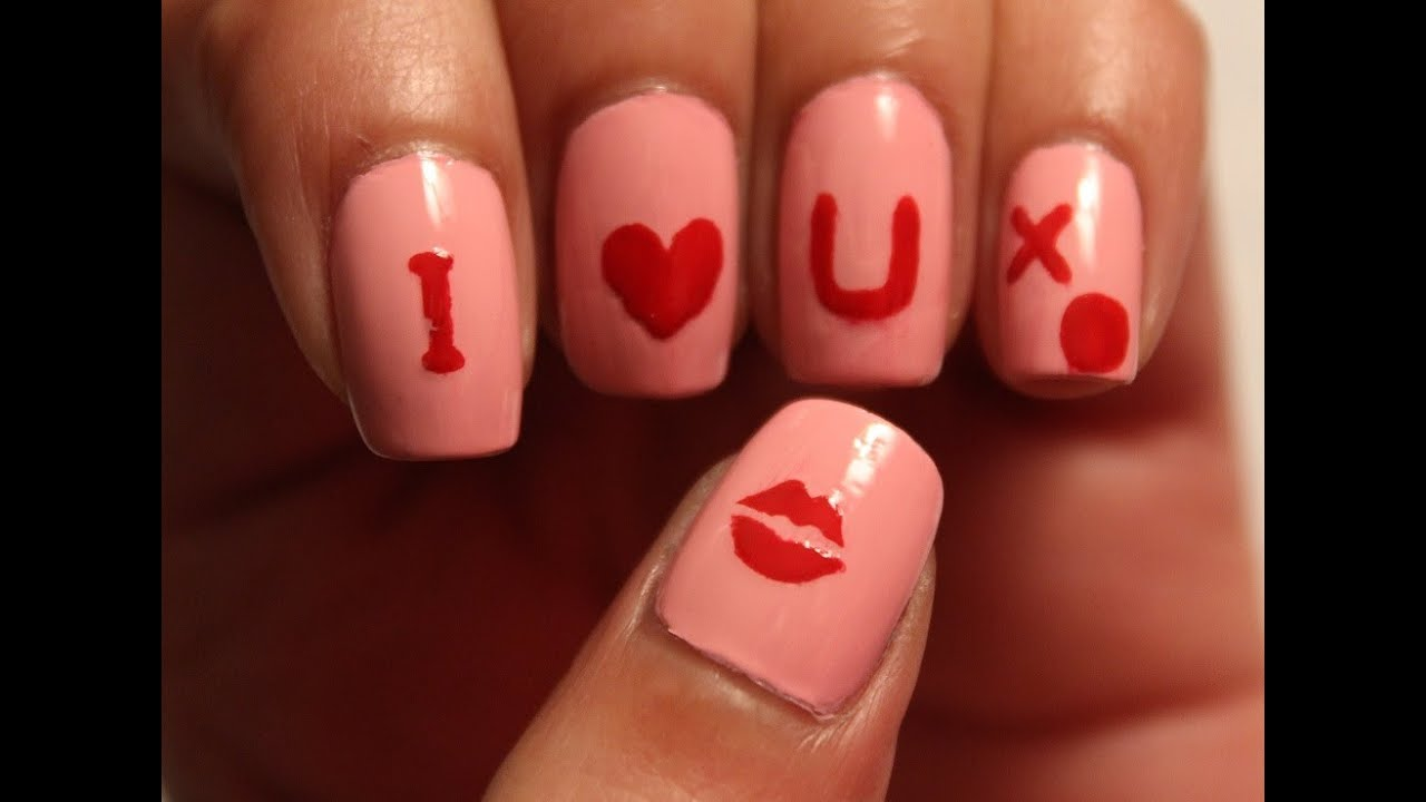 Valentine\'s Day I Love You Nails (Tutorial and review) | Dee2102 ...