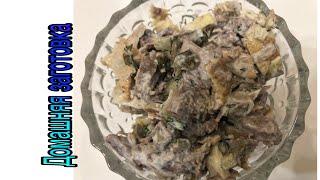 Салат омлетно-говяжий с соленым огурцами(просто,вкусно,быстро) эпизод №461