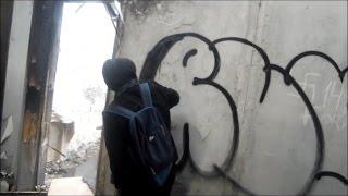 Школота рисует граффити на заброшке(, 2016-08-03T17:40:38.000Z)