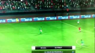 PES soccer game. Goal in become a legend mode after 2 year game life