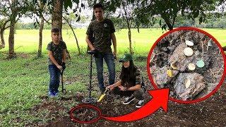 Uma GRANDE descoberta !!! Aventureiros encontram um Tesouro Enterrado