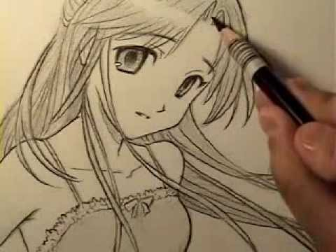 Hướng dẫn vẽ tranh cô gái  – Luutrong.Vn