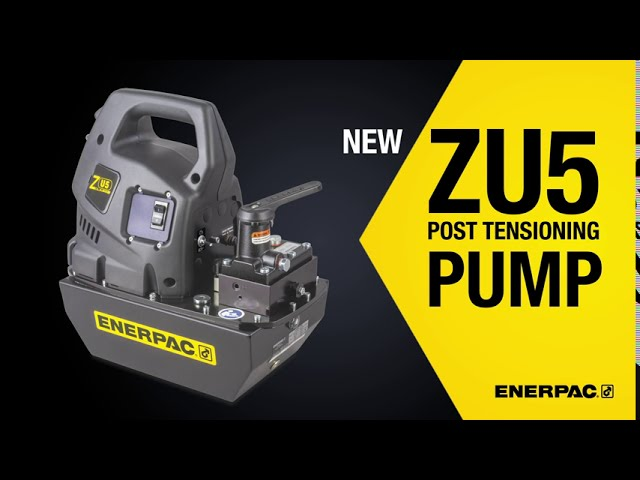 Hydraulic Post Tensioning Pump Stresses Tendons Faster | Enerpac