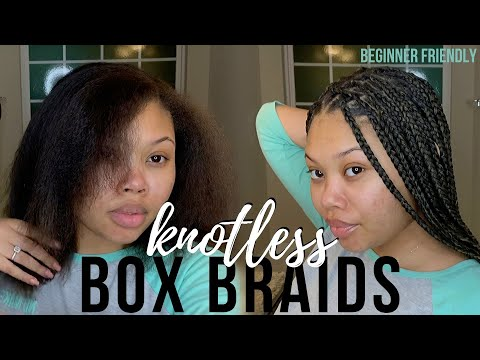 how-to-do-knotless-box-braids-on-yourself-for-beginners!